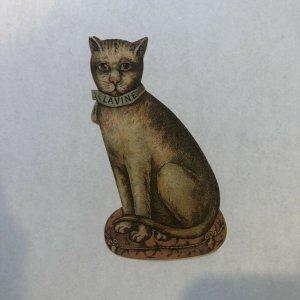 Lavine Soap Cat, Hartford Chemical Works, Die-Cut Victorian Trade Card