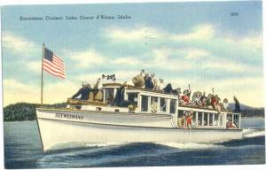 Linen of Excursion Cruiser Lake Coeur d'Alene Idaho ID