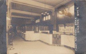 RP: CRESTON , Iowa , 1913 , Interior First National Bank