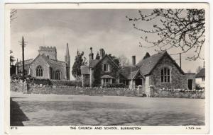 Somerset; The Church & School,  Burrington BT 15 RP PPC By Tuck, 1964 PMK