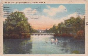 Boating On Sunset Lake Asbury Park New Jersey 1926