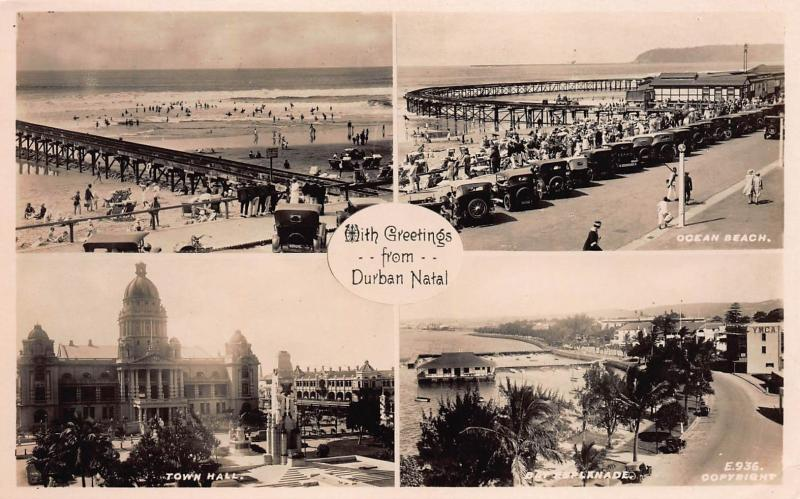 Greetings From Durban, Natal, Early Real Photo Postcard, Unused