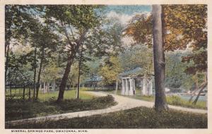 OWATONNA, Minnesota, PU-1922; Mineral Springs Park