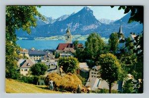 St. Wolfgang Salzburg Pan American Clipper Advertisement Chrome Austria Postcard