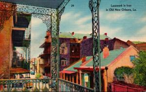 Louisiana New Orleans Lacework In Iron 1950
