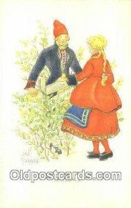 Artist Aina Stenberg Postcard Post Card, Old Vintage Antique Vastergotland un...