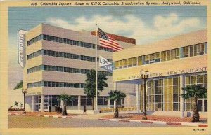 California Hollywood Columbia Square Home Of K N X Columbia Broadcasting System
