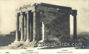 Greece Temple d'Athena Nike Athens Temple d'Athena Nike Real Photo
