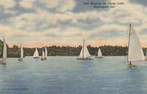 SHREVEPORT , Louisiana , 1930-40s ; Sail Boating on Cross Lake
