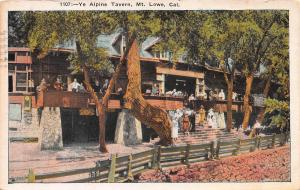 Ye Alpine Tavern, Mt. Lowe, California, Early Postcard, Used in 1925