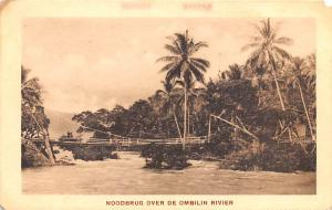Indonesia, Republik Indonesia Noodbrug Over de Ombilin Rivier  Noodbrug Over ...