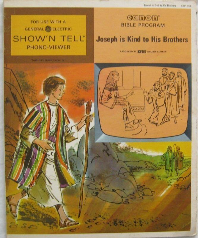 Vintage Joseph Is Kind To Brothers Canon Bible Program For GE Show N Tell 1966