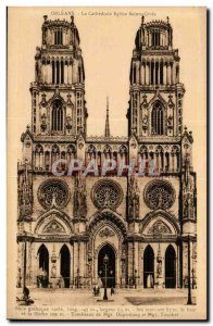 Orleans Old Postcard The Cathedral Holy Cross church
