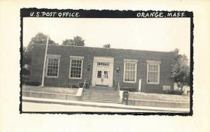 Orange MA U. S. Post Office Real Photo Postcard