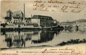 CPA MONTEREAU-fant-YONNE - L'Église Notre-Dame et le Pont d'YONNE (292718)