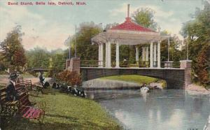 Michigan Detroit Band Stand Belle Isle 1910