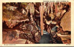Virginia Caverns Of Luray Princess Column 1951