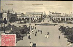 uruguay, MONTEVIDEO, Plaza Independencia (1913)