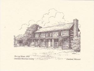 Missouri Overland The Log House Built 1858