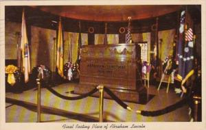 Illinois Springfield Lincoln Tomb Interior Oak Ridge Cemetery 1975