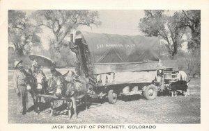 LPS36 Pritchett Colorado Jack Ratliff Touring America Covered Wagon Postcard