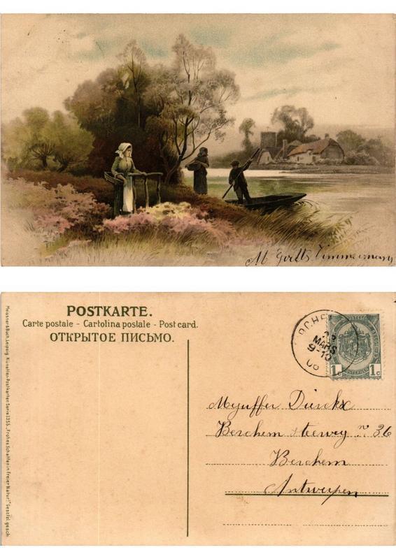 CPA Frohes Schaffen in freier Natur Meissner & Buch Litho Serie 1355 (730396)