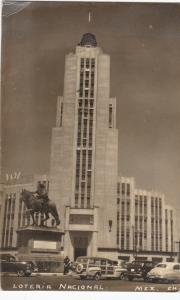 RP; MEXICO, 1950´s; Edificio De La Loteria Nacional, Classic Cars