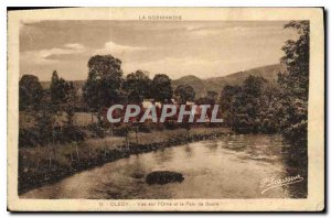 Postcard Old Clecy View Orne and Sugar Loaf