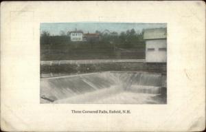 Enfield NH Three-Cornered Falls c1915 Postcard