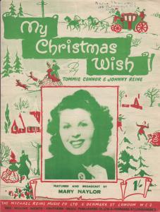 My Christmas Wish Mary Naylor 1950s Sheet Music
