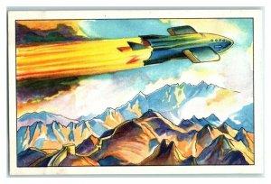 Rocket Plane, Future Fantasies, Echte Wagner German Trade Card *VT31R