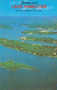 Arkansas Hot Springs Greetings From Lake Hamilton Aerial View