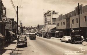 F61/ Foreign RPPC Postcard Mexico Nogales 1953 Av H. Obregon Stores
