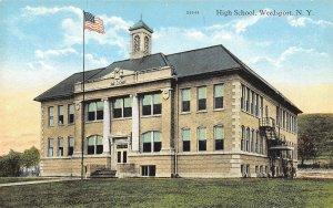 High School Weedsport New York 1920s postcard