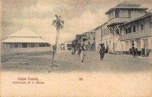 Ghana Gold Coast Cape Coast street view ethnic postcard
