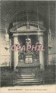 Postcard Ancient Church St Medard altar of the Virgin ste (apse)
