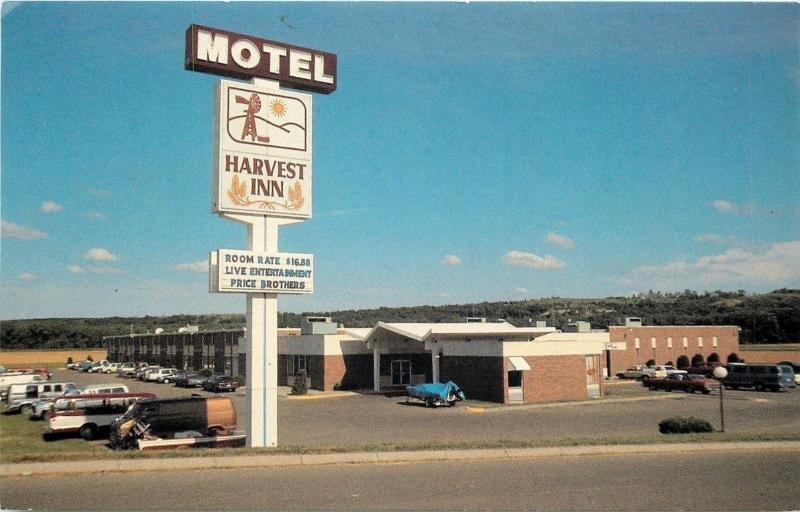 Junction City KS~Harvest Inn Motel~Live Entertainment: Price Brothers~1960s PC