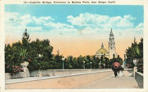 Postcard Cabrillo Bridge Entrance to Balboa Park San Diego California