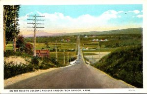 Maine On The Road To Lucerne and Bar Harbor From Bangor 1929 Curteich