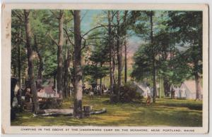 Camping, Underwood Camp, Portland ME