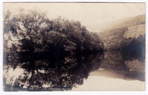 Tunkhannock PA 1907 RPPC Creek Above Mill Dam Wyoming RARE REAL PHOTO Postcard