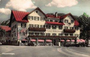 Oberammergau Hotel Wittelsbach Terrace Vintage Cars Postcard