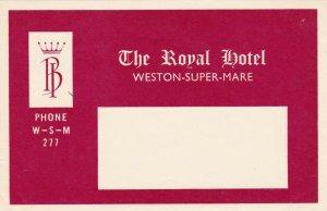 England Weston-Super-Mare Royal Hotel Vintage Luggage Label sk2348