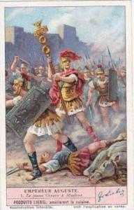 Liebig Vintage Trade Card S1391 Emperor Augustus 1939 No 1 Le jeune Octave a ...