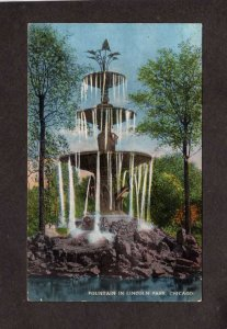 IL Lincoln Park Water Fountain Chicago Illinois Vintage Postcard 1915