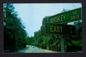 SC Whiskey Road Easy St AIKEN SOUTH CAROLINA Postcard