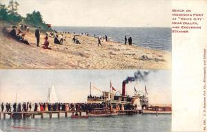 Duluth Minnesota Beach Excursion Stamer Antique Postcard K103208