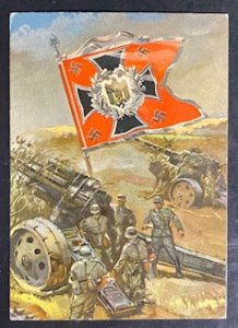 1942 Feldpost Germany WWII Picture Postcard cover heavy artillery