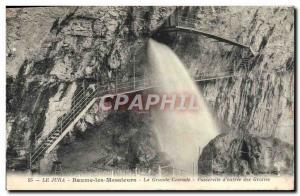 Old Postcard Jura Baume les Messieurs La Grande Cascade Gateway d & # 39entre...