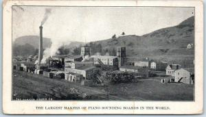1905 Lisbon, New Hampshire Postcard PARKER YOUNG FACTORY Piano Sounding Boards